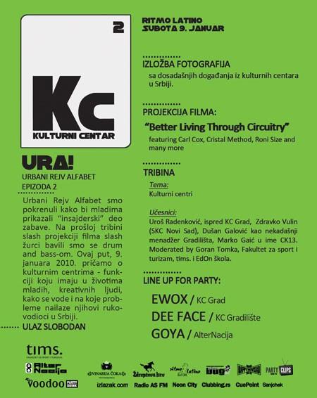 URA 2 :: Kulturni centri (CK13, Grad, Gradilište, SKC)