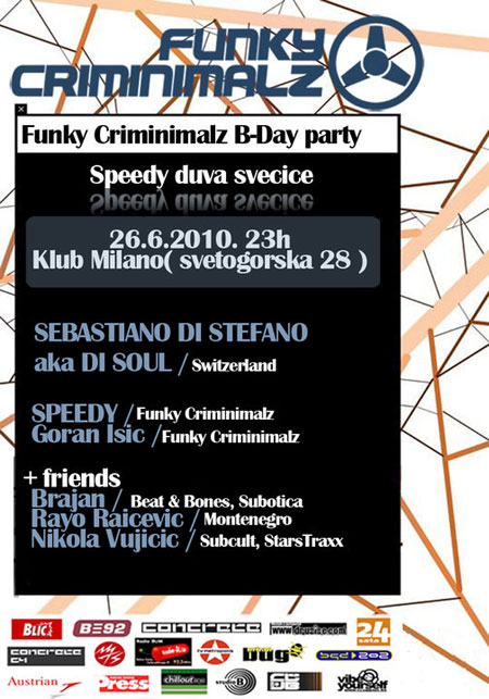 Funky Criminimalz 3rd B-Day