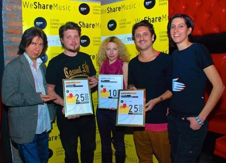 WeShareMusic: Nagrađeni