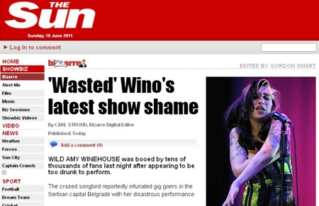 Wasted Wino's latest show shame