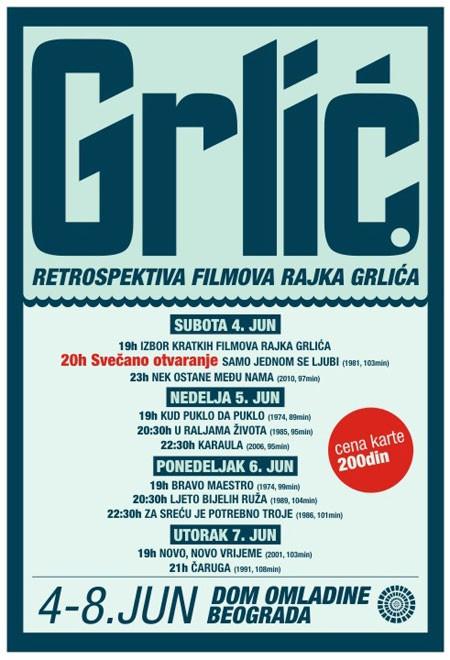 Rajko Grlić - retrospektiva filmova