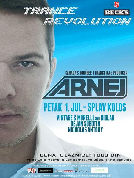 Arnej u Beogradu - Trance Revolution