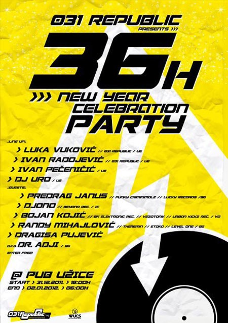 36 h New Year party, Užice