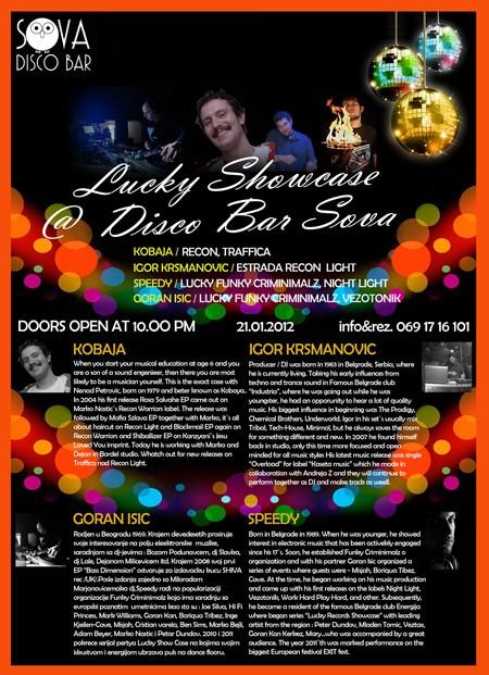 Lucky Showcase, Disco Bar Sova 21.01.2012.