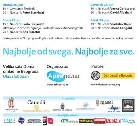 Sutra u DOB-u počinje Beogradski festival evropske književnosti