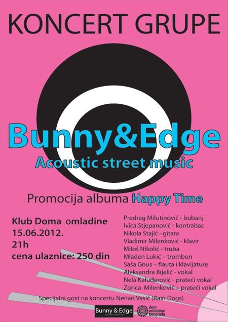 Koncertna promocija debi albuma grupe Bunny & Edge u DOB-u