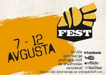 AJDE fest, od 7. do 11. avgusta, Kruševac