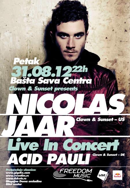 Nicolas Jaar večeras u bašti SC