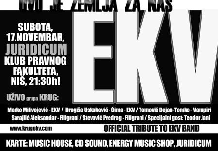 KRUG - Tribute to EKV - Koncert u Nišu!