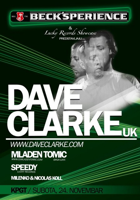 Dave Clarke stiže na Becks'perience