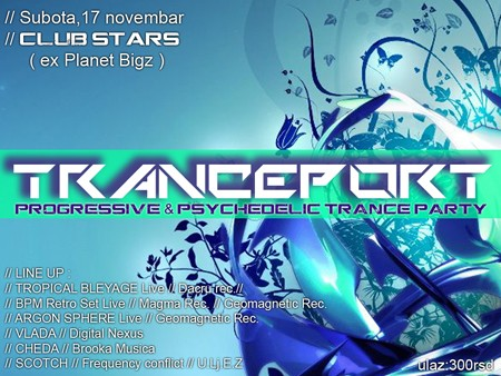 "Progressive & psychedelic trance party ""Tranceport"""
