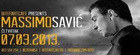 Massimo Savić u klubu BitefArtCafe