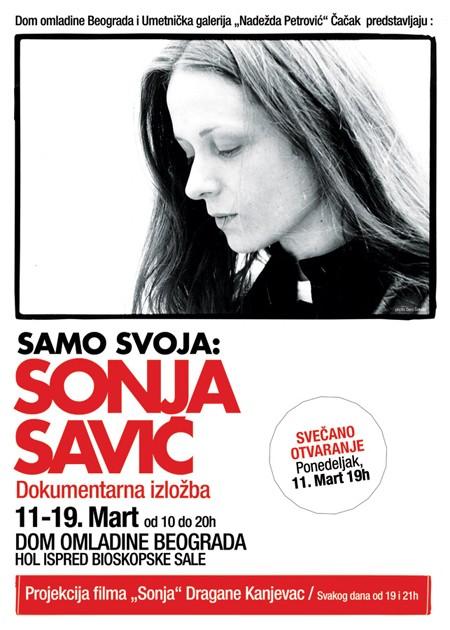 """Dokumentarna izložba """"Samo svoja: Sonja Savić"""""""