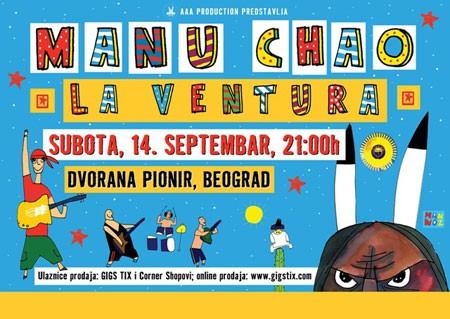 Nakon 11 godina Manu Chao stiže u Beograd!