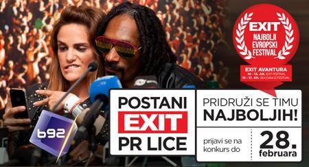 EXIT: Postani PR lice najboljeg evropskog festivala!
