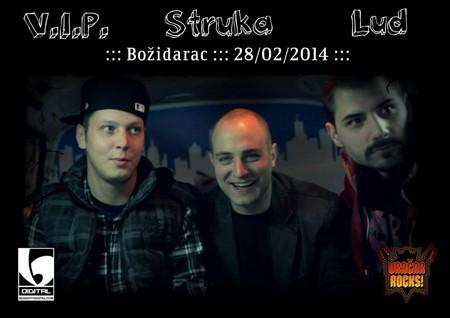 Vračar Rocks: VIP, Struka i Lud ovog petka u Božidarcu