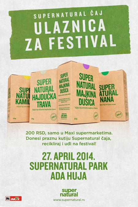 Supernatural čaj ulaznica za Supernatural Festival
