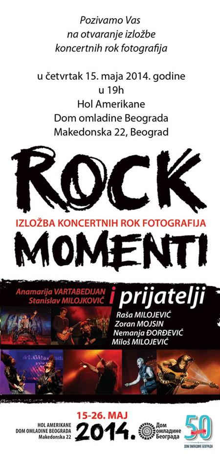 Izložba koncertnih rok fotografija - Rock Momenti 2014.