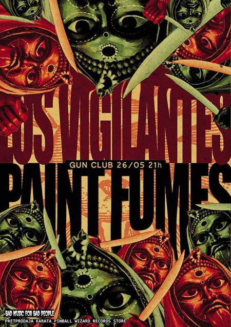 Los Vigilantes i Paint Fumes 26. maja u klubu Gun
