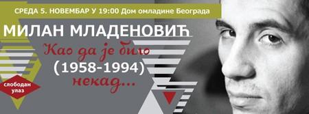 Sećanje na Milana Mladenovića 5. novembra u DOB