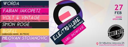 """""""ElectroGlobe Recordings"""" u klubu """"Three Dots"""""""