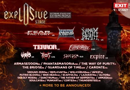 Eksplozivni Exit uz Napalm Death, Fear Factory, Terror i Nuclear Assault!