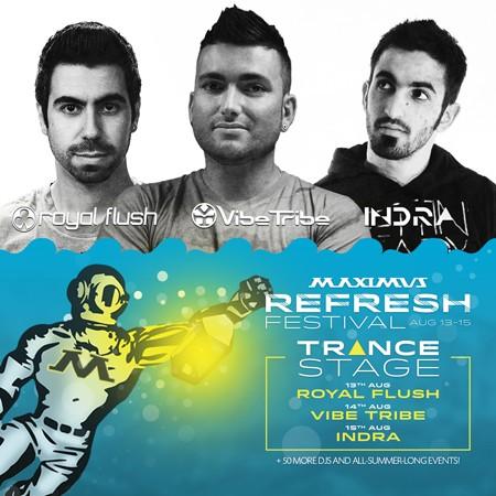 Royal flush, Vibe tribe i Indra na 9. Refresh festivalu