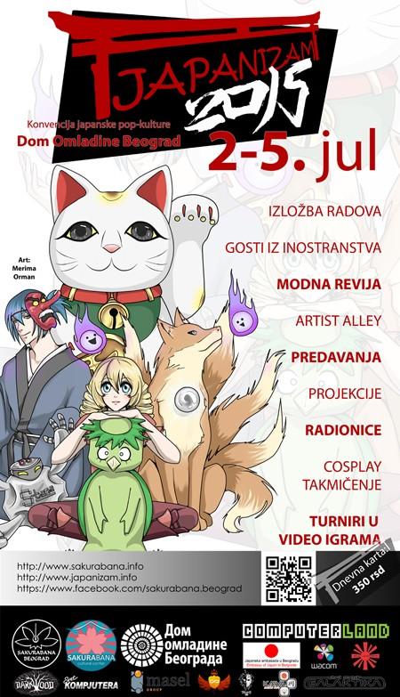 Japanizam 2015. od 2. jula u DOB-u