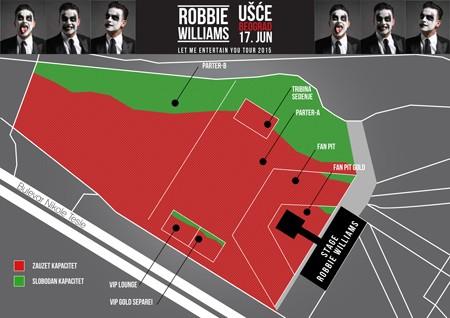 Za koncert Robija Vilijamsa na Ušću gradi se pravi mali grad!
