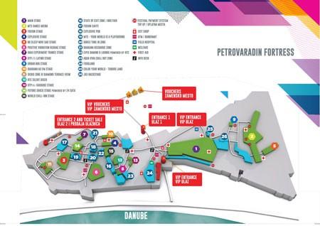 Mapa - Exit 2015, Novi Sad