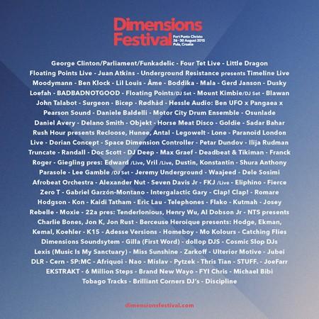 Jaka postava regionalnih izvođača na Dimensions festivalu!