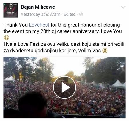 Šta izvođači kažu o Lovefestu!