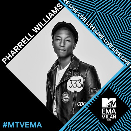 Pharrell Williams na 2015 MTV EMA