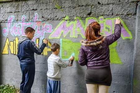 """Grafiti mural u """"Zavodu za vaspitanje dece i omladine"""" - Photo by Nebojša Petrović"""