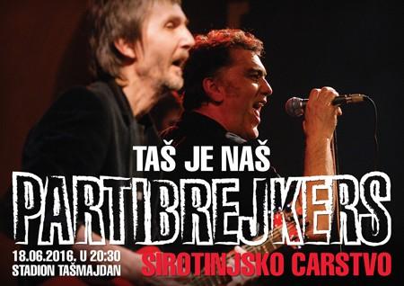 Specijalni gosti na koncertu Partibrejkersa na Tašmajdanu