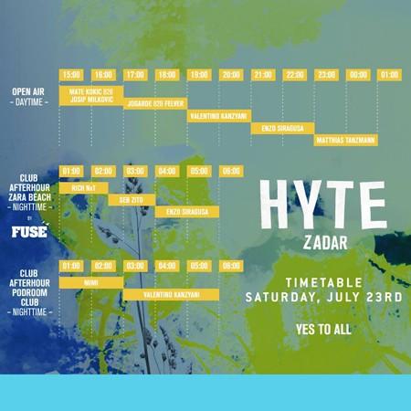 HYTE Zadar raspored po danima