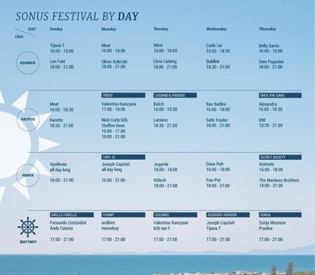 Sonus raspored za 5 dana i 5 noći
