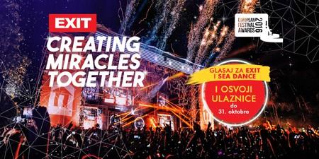 Još samo pet dana – glasaj za EXIT Avanturu i osvoji ulaznice za najbolje evropske festivale