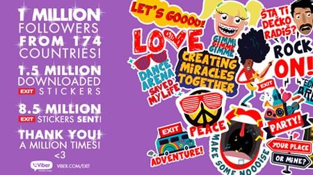 EXIT na Viberu: Milion pratilaca iz 174 zemalja!