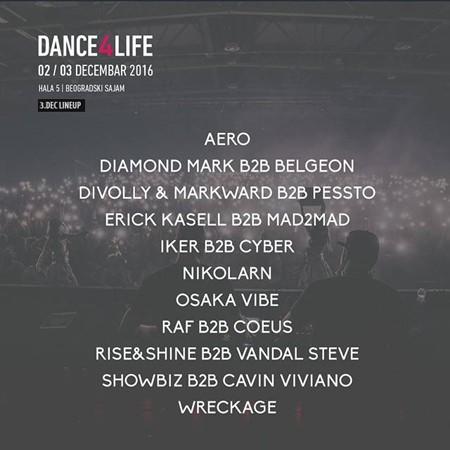 Kompletiran lineup za Dance4Life!