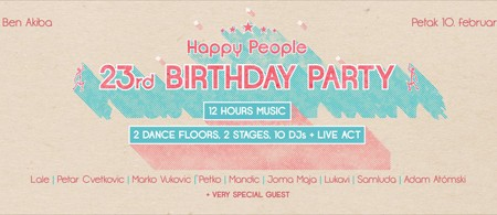 Happy People 23rd Bday Party