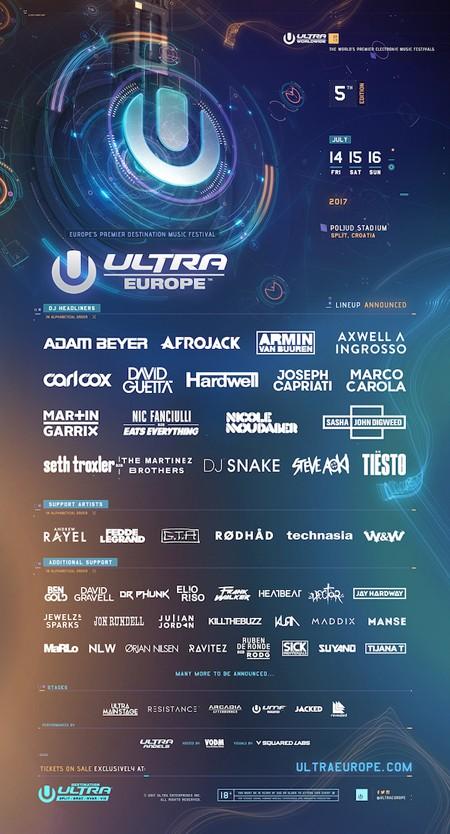 Otkriven deo lineup-a ULTRA Europe festivala