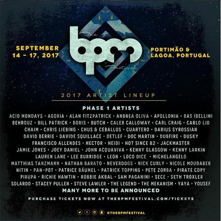 BPM festival 2017, Portugal