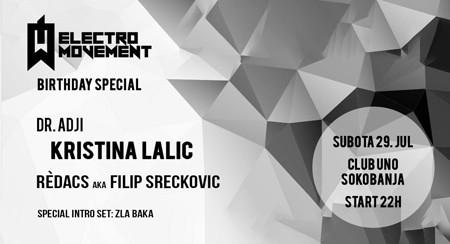 Kristina Lalić i Dr. Adji za prvi rođendan Electro Movement-a!