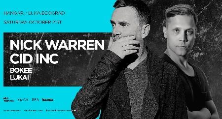 Nick Warren i Cid Inc večeras u Hangaru