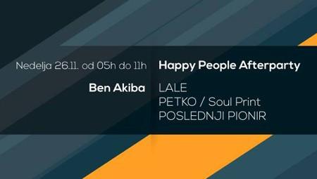 Happy People Afterparty @ Ben Akiba